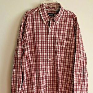 Chaps Men's XLT Tall 100% Cotton Plaid Shirt